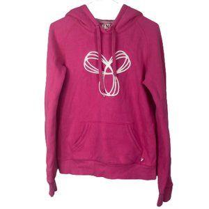 Aritzia TNA Baltic Hoodie Hooded Sweatshirt Bright Barbie Pink Logo Size Small